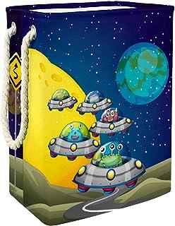 Vockgeng Astronaure Monstre Vaisseau Spatial drôle Accueil Organisation Panier de Rangement imperméable Pliable de Jouets ...