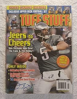Donovan McNabb - Philadelphia Eagles - Tuff Stuff Magazine - January 2007 - Collecting Football Helmets, 1963 Topps Baseball articles