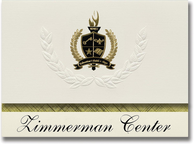 Signature Ankündigungen Zimmerman Center (Flint, mi) Graduation Ankündigungen, Ankündigungen, Ankündigungen, Presidential Stil, Elite Paket 25 Stück mit Gold & Schwarz Metallic Folie Dichtung B078TSYRWW  | Hohe Qualität  b17576
