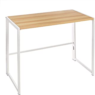 "Amazon Basics 40"" Multipurpose Foldable Computer Study Desk - Natural"