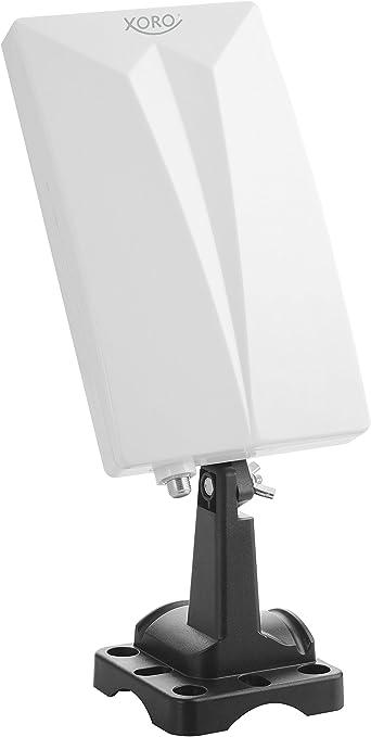 Xoro Han 600 P Passive DVB-T2 KOMBO Antena con Amplificador Integrado (LTE Filtro, reducción de Ruido, 3,5 m de Cable), Color Blanco
