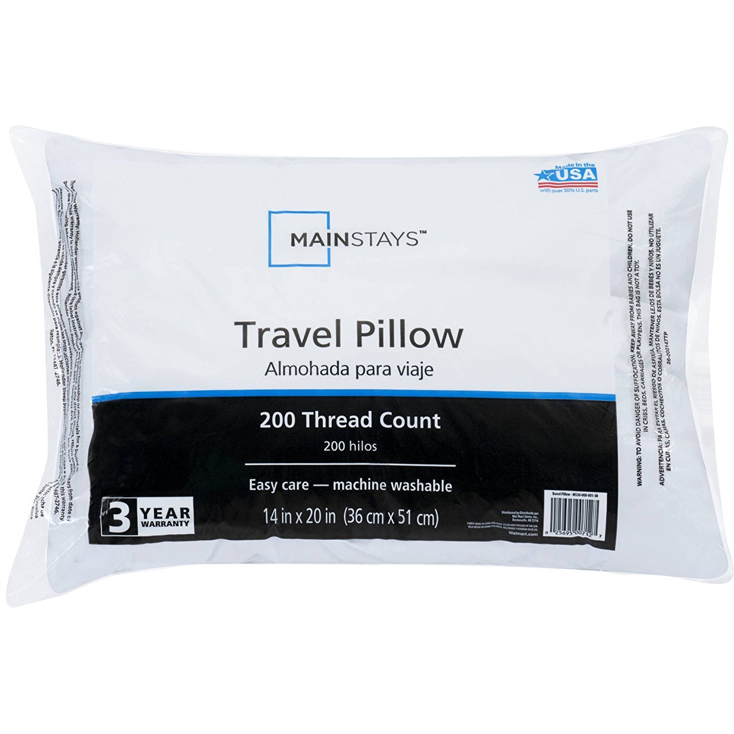 Mainstay MS30 008 001 30 94468 3018 Travel Pillow