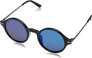 Fastrack UV Protected Round Men's Sunglasses - (P343BU1 55 Mirror Blue Color)