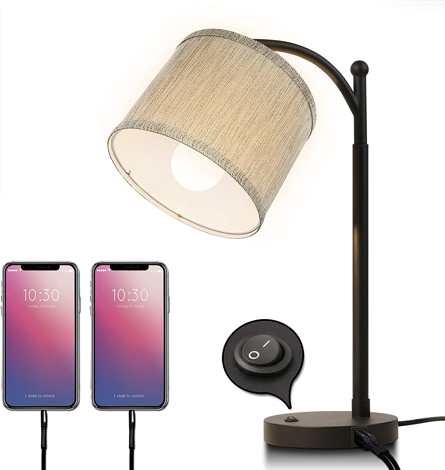 Max 76% OFF Miceshu Table low-pricing Lamps for Living Bedside Lamp Dua with Room