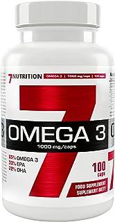 7Nutrition Omega 3 1000 mg 1 paquete - Ácidos grasos DHA y EPA - Con vitamina E - Ácidos grasos esenciales (100 Capsules)