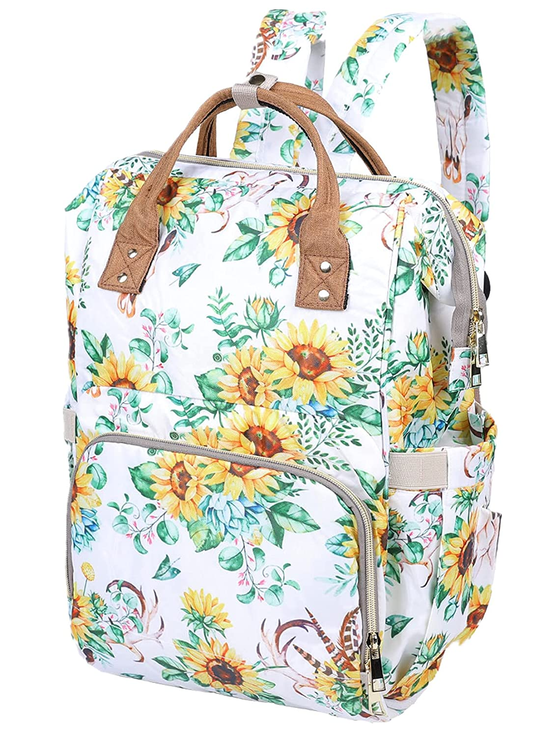 Trymall Diaper Backpack Baby, Mom Travel Handbag with Thermal Pockets, Waterproof Multifunction Large Nappy Bags for Boys Girls