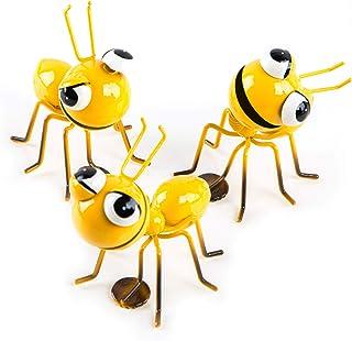 Logbuch-Verlag - 3 hormigas decorativas amarillas con imán – Embalaje para regalo de dinero dinero dinero envoltorio Dekomagnet Animal figura