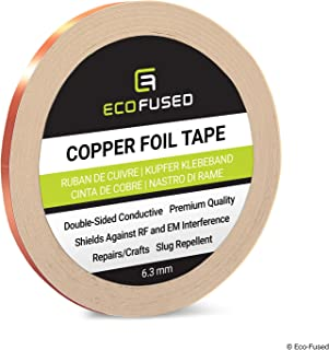 comprar comparacion Cinta Adhesiva de Primera Calidad de Cobre - Conducto de Doble Cara - 0.25 Pulgadas (6.3mm) - Blindaje emi y RF, Circuitos...