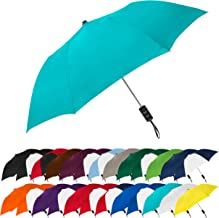 STROMBERGBRAND UMBRELLAS Spectrum Popular Style Automatic Open Close Small Light Weight Portable Compact Tiny Mini Travel Folding Umbrella for Men and Women, Teal Blue