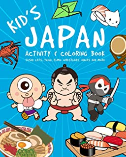 Kid's Japan Activity And Coloring Book: Sushi Cats,