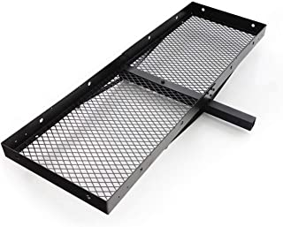 "Lund 601010 Universal 20"" X 60"" Hitch Mounted Steel Cargo Carrier for 2"" Receiver"