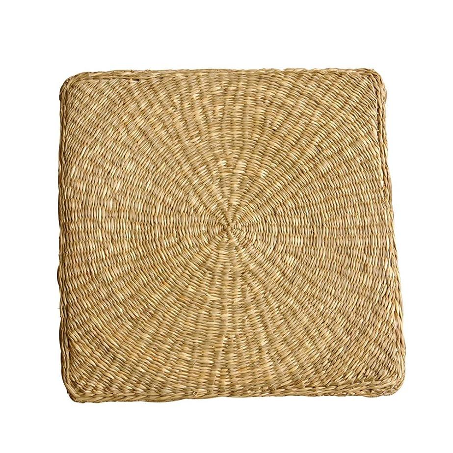 まさに調和のとれた絡まる七島い草クッション 角形 「シーグラス」【IB】 40×40cm(#2504109) シートクッション 座布団
