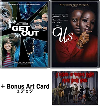 Jordan Peele Nightmare Collection: 2 Movies (Get Out / Us) + Bonus Art Card