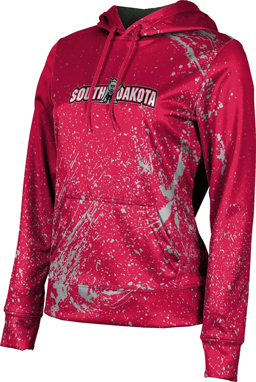 University of South Dakota Girls' Pullover Hoodie, School Spirit Sweatshirt (Splatter)