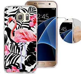 Samsung S7 Case, Galaxy S7 Case, Viwell Design Pattern Case, High Impact Protective Case for Samsung Galaxy S7 Case Pink flamingo