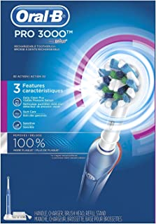 Oral-B Pro 3000 Electric Rechargeable Toothbrush with 2 Extra Brush Heads