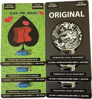 Big K Redlips Red Lips Black Original White Dragon Men Enhancement Pills Bundle (Bundle)