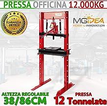 FERVI P001//10 PRESSA MANUALE IDRAULICA DA BANCO CON PISTONE MOBILE 10 T