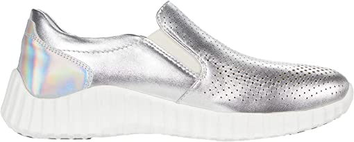 Silver Waterproof Nappa Leather