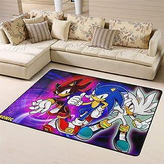 Zmacdk Sonic The Hedgehog - Alfombra antideslizante para niños (120 cm x 180 cm), Sonic Sonic The Hedgehog Sega Videojuegos