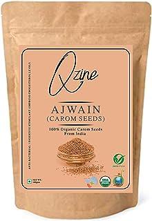 Qzine 100% USDA Certified Organic Carom Seeds|Ajowan Seeds|Bishop's Seeds| (Ajwain) - 2.2 Lbs