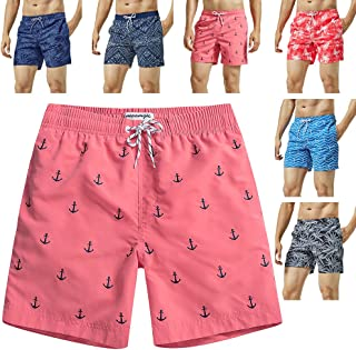 MaaMgic Mens Swim Trunks Quick Dry Funny Shorts with Mesh Lining Swimwear Bathing Suits
