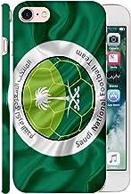 غطاء حماية لهاتف ابل ايفون 7 من كولور كينغ بشعار المنتخب السعودي لكرة القدم 09 في الخلف