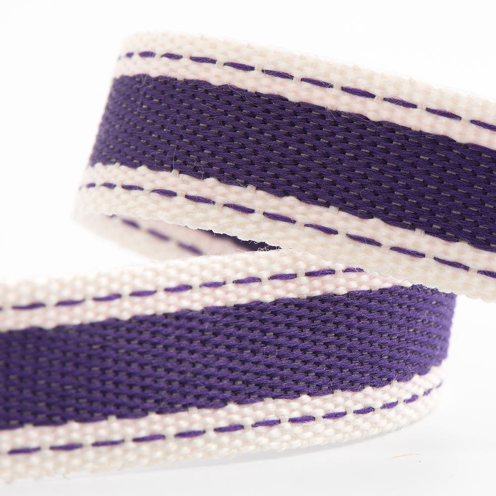 Rollo de cinta de sarga de algodón de 15 mm x 10 m, color morado ...