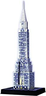 Ravensburger Chrysler Building Night Edition 216 Piece 3D Jigsaw Puzzle for Kids and Adults - Easy Click Technology Means Pieces Fit Together Perfectly