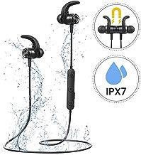 Cuffie Bluetooth Bassi Potenziati, Mpow S10 IPX7 Impermeabili Cuffie Sport con 9 Ore di Gioco, Auricolari Bluetooth da Corsa Audio Stereo Hi-Fi, Auricolari Magnetici per il Jogging, Corsa, Fitness.