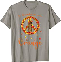 In November We Wear Orange Peace Sign Hippie Girl Funny Gift T-Shirt