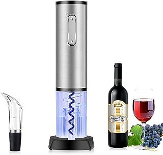 TOQIBO Sacacorchos, Sacacorchos Eléctrico Profesional, Abridor de Botellas con Cortador de Cápsulas y Vertedor de Vino - Recargable [Clase de eficiencia energética A+++] [Clase de eficiencia energética A+++]