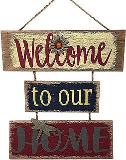 Welcome Home Sign for Wall Front Door Decor Indoor Outdoor 16