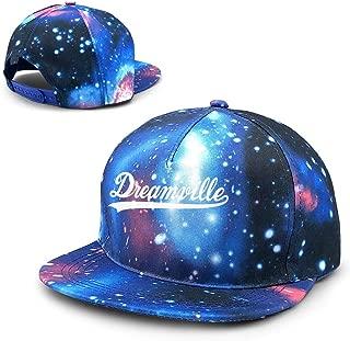 Unisex J. Cole Dreamville 4 Your Eyez ONLY Tour Rap Hip HOP Cole World Galaxy Cotton Hip Hop Snapback Flat Brim Hat Adult Dad Baseball Caps Blue