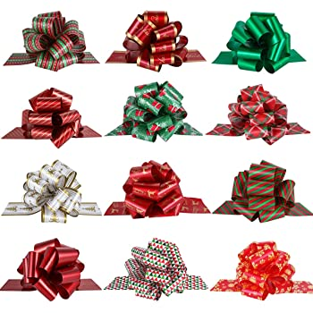 Small Christmas Birthday Gift Bows Wrapping Present  Black Gold GIrls Boys