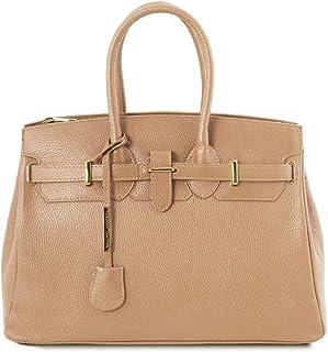 Tuscany Leather TLBag Borsa a mano con accessori oro