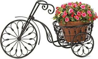 Lovely999 New Plant Stand Nostalgic Iron Bicycle Planter with 10 Inch Basket Bicycle from Bygone Days Nostalgic Styling Blooms to Life When You add Your Favorite Plant