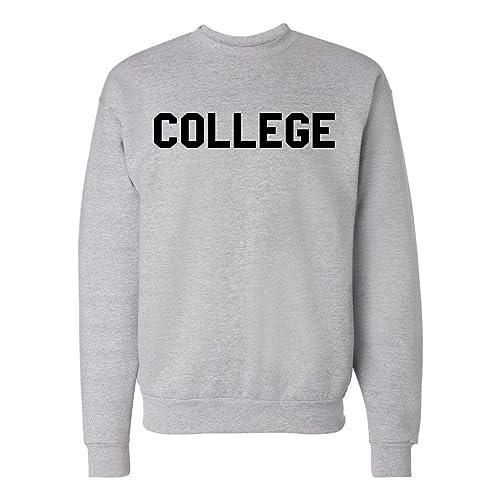 College Unisex Mens Womens Crewneck Pullover Sweatshirt 3205070eb