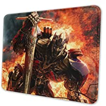 Transformers Gaming Mouse Pad with Stitched Edges Computer Mouse Mat Non-Slip Rubber Base for Laptop PC 12 X 10 X 0.12 Inches