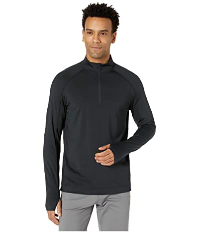 Rhone Courtside 1/4 Zip (Black) Men