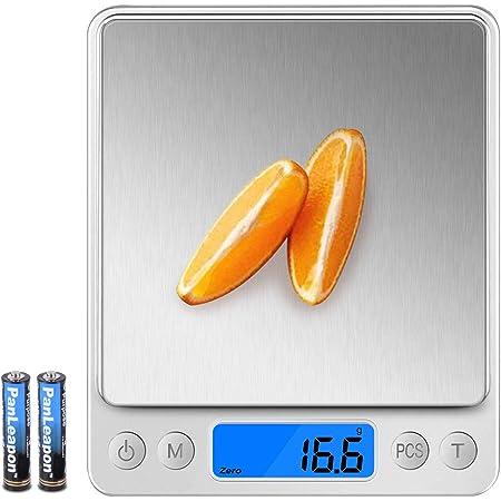 Wodgreat Báscula de Cocina, Balanza Cocina Digital de Alta Precisión 0.1g/3 kg, Bascula Cocina Precision con función PSC/Tara, Peso de Cocina con ...
