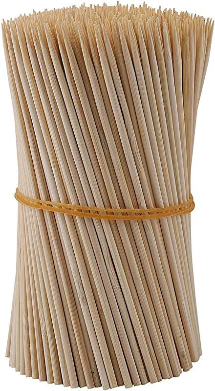 Fasmov 1000 Pack Bamboo BBQ Appetizer Shish Kebab Skewers Natural Semi Point Bamboo Sticks 6 Inches