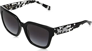 Coach Woman Sunglasses, Black Lenses Acetate Frame, 53mm