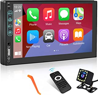 $149 » Double Din Car Stereo with CarPlay & Android Auto, CARPURIDE 7 Inch Car Stereo with Bluetooth, HD Touch Screen in-Dash Car...
