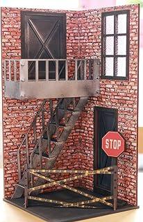 1/10スケールドールハウス非常階段赤レンガパターン2 付属品付き