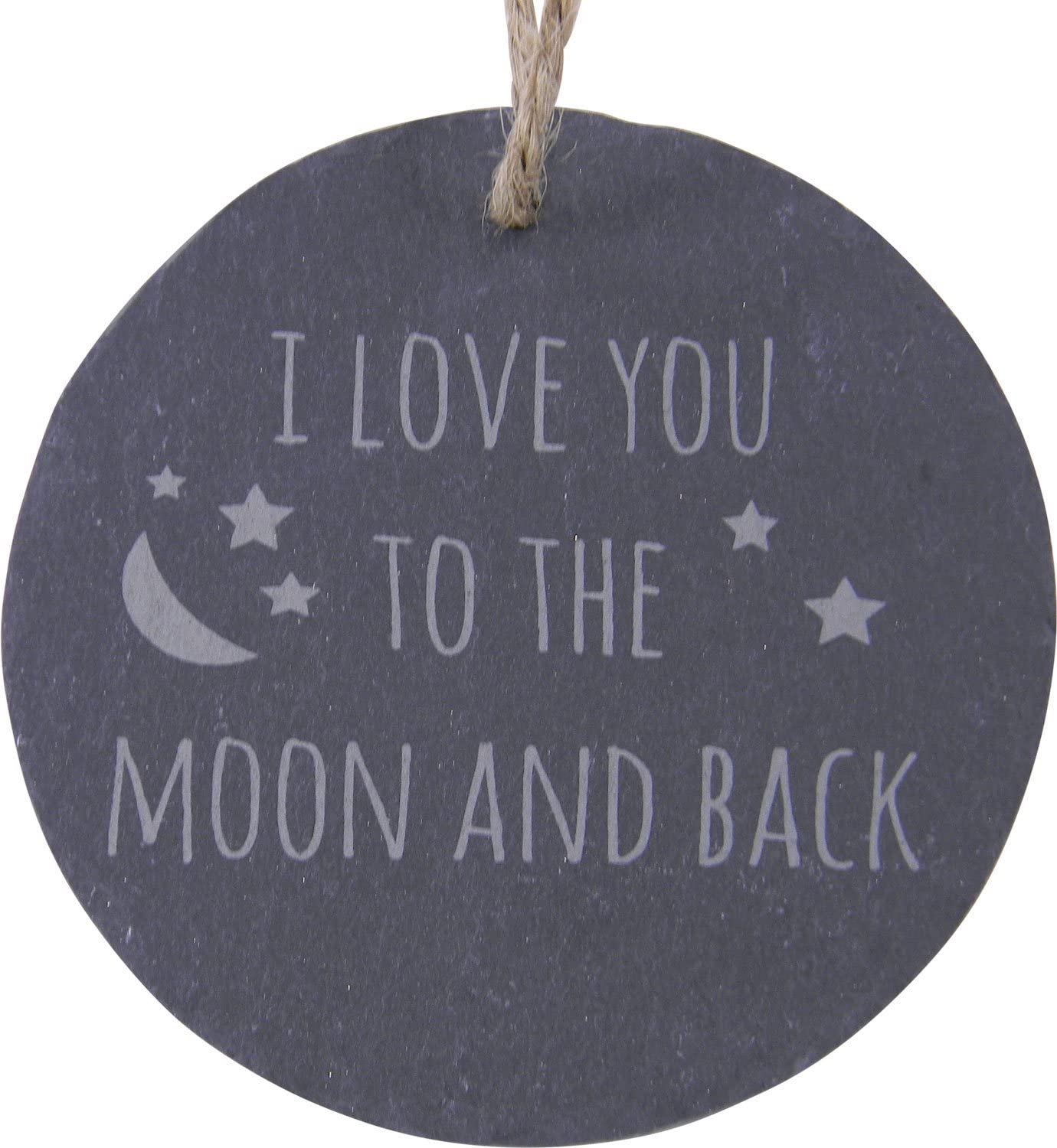 I Love Attention brand You to The Moon and Hanging Slate Excellent Back Circle 3.25-inch C