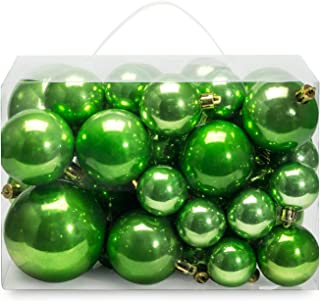 amazon com christmas ball ornaments green ball ornaments ornaments home kitchen amazon com christmas ball ornaments