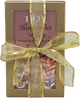 80th Birthday Gift Basket Box - Live Your Life - with 1939 Trivia Booklet