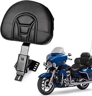 PSLER® Rückenlehne, Plugin Fahrer Rückenlehne, Verstellbares Fahrer Rückenlehnen Polster, Sissy Bar, mit Einer Geschlitzten Basis für Harley Touring Modelle 1997 2017