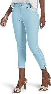 c87131cd4c9 HUE Women s Ankle Slit Essential Denim Capri Leggings